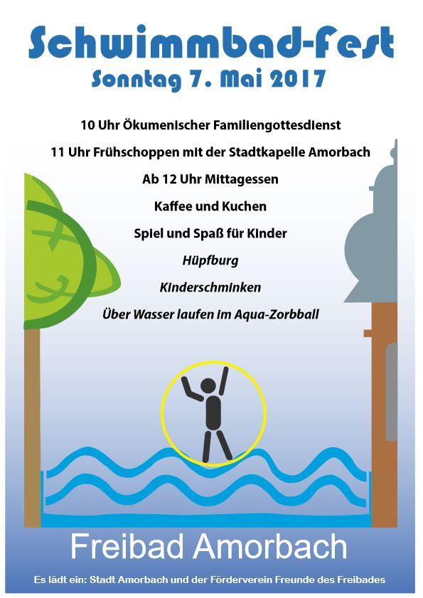 Festplakat Schwimmbadfest